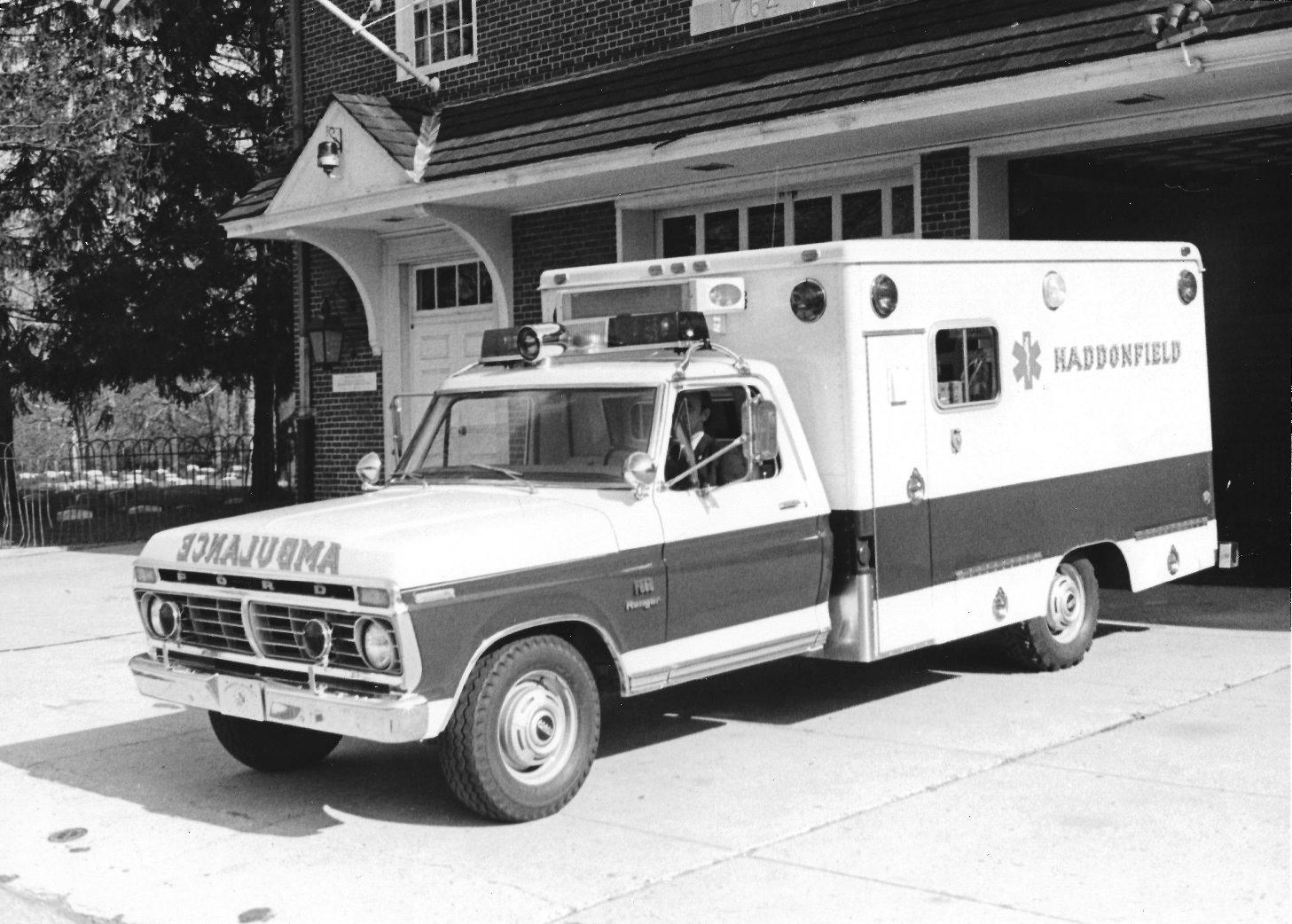 Ford Modulance Ambulance on Red Engine Light Flashing